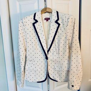 Merona black and white polka dot blazer